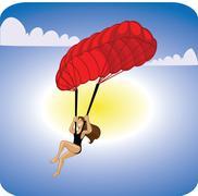 adventure sports parachute - stock illustration