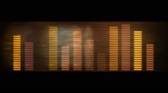 Audio equalizer,music rhythm Volume,speakers waves spectrum,heart-rate,vj. Stock Footage