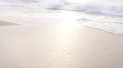 Footsteps in sand Stock Footage