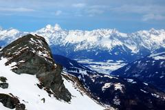 Winter in the Alp mountains - stock photo