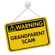Stock Illustration of Grandparent Scam Warning Sign