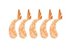 Ebi Tempura or Fried Shrimp on White Background Stock Illustration