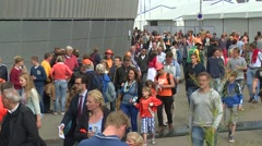 Crowd comming in stadium Stock Footage