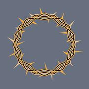 Crown of Thorns of Christ Illustration - stock illustration