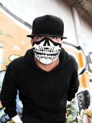 Masked rapper portrait Stock Photos