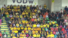 Australalian  supporters Stock Footage
