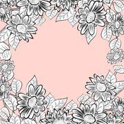 Daisy flowers frame Stock Illustration