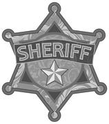sheriff star - stock illustration