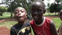 African children wondering and looking at themselves in the camera Arkistovideo