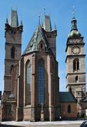 Hradec Kralove - Holy Spirit cathedral - stock photo
