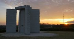 Georgia Guidestones Time Lapse 02-28-2015 Stock Footage