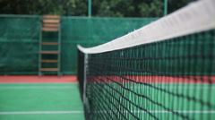 Tennis Ball Bounces of the Net. Full HD, 1080p, video, real time.. Stock Footage