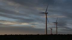 Wild Horse Turbine Wind Farm | EX3B0034 Stock Footage