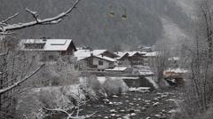 Cityscape of skiing resort Mayrhofen, Austria Stock Footage