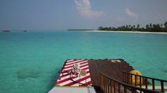 MALDIVES: Sea plane petrol station. Stock Footage