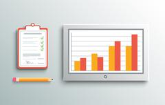 Delivery signature and monitor Stock Illustration