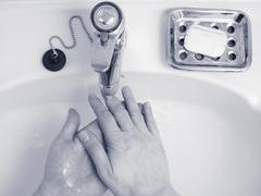 Hand washing Stock Photos