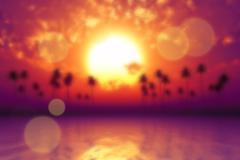 tropic sea blurred - stock photo