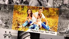 Family 3D Photo Album Slideshow Stock After Effects