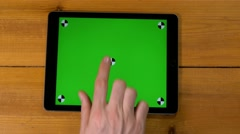 4k male multi touch touchscreen gestures. iPad, tablet pc UHD Stock Footage