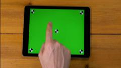 4k male 16 multi touch touchscreen gestures all in one. iPad, tablet pc UHD Stock Footage
