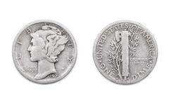 An American Dime - stock photo