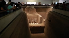 Crowds of people at the Terracotta Warriors museum Stock Footage