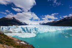 Glacier in Argentina - stock photo