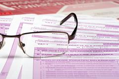 Vat tax - documents Polish - stock photo
