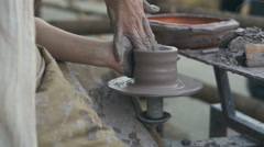 Pottery making 4k Stock Footage
