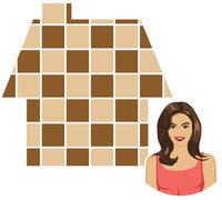 indian house wife - stock illustration