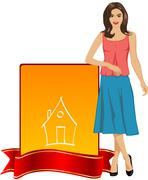 Indian house wife Stock Illustration