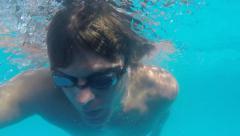 Freestyle onderwater Stock Footage
