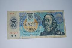 Czechoslovakia 1988 - 20 koruna - stock photo