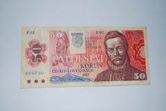 Czechoslovakia 1987 - 50 koruna - stock photo