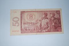 Czechoslovakia 1964 - 50 koruna - stock photo