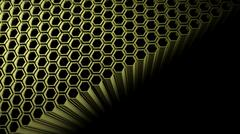 Background with 3d beehive on black - stock illustration