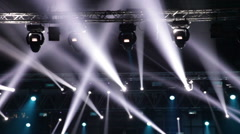 Stage lights at the concert - spectacular stage design Stock Footage