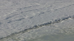 Dangerous thin ice in spring weather Stock Footage