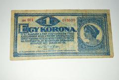 Ungarn 1920 - 1 Koruna - stock photo