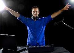 Modern Caucasian DJ Stock Photos