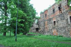 Poland - Zabkowic Slaskie - castle ruine - stock photo