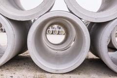 Pipe of cement Stock Photos