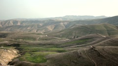 Mountains, rocks and hills in the neighborhood Jericho. Beautiful landscape of Stock Footage