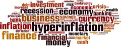 Stock Illustration of Hyperinflation word cloud