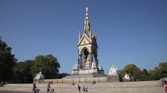 The Albert Memorial, London UK 4 Stock Footage