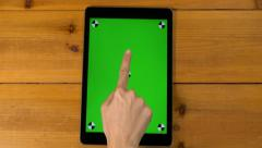 4k  18 multi touch touchscreen gestures all in one. iPad, tablet pc UHD. Stock Footage