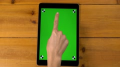 4k female multi touch touchscreen gestures, iPad, tablet pc UHD. Stock Footage