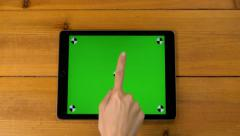 4k 15 multi touch touchscreen gestures all in one. iPad, tablet pc UHD. Stock Footage