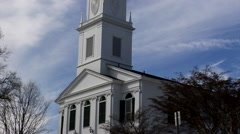 Church on the hill Stock Footage